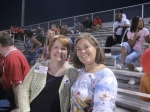 CATHY O'CONNOR & KATHY WILLIFORD...BIG SMILES @ THE FOOTBALL GAME 2007.